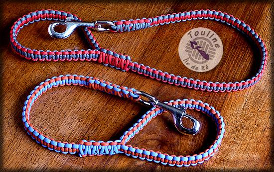 Paracord touline le de r n uds marins d co marine - Laisse corde gros chien ...