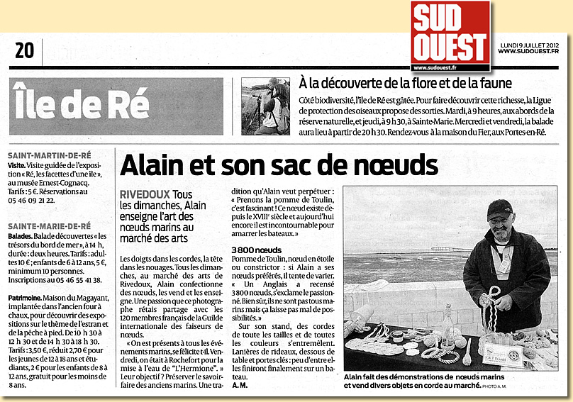 Sud Ouest 07/2012